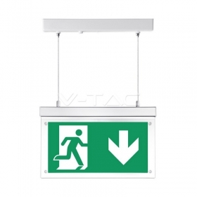 2W Surface Hanging Emergency Exit Light 12 Hours Charging 6000K