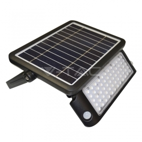 10W LED Solar Floodlight Black Body 4000K