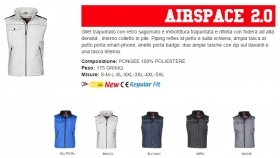 Gilet AIRSPACE 2.0 unisex, zip 8mm in plastica con cursore in metallo