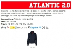 Giubbino ATLANTIC LADY 2.0 ergonomico da donna, zip da 8mm