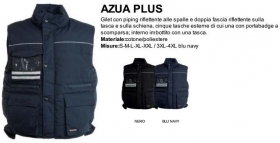 Gilet AZUA PLUS imbottito in Cotone/Poliestere con piping Reflex