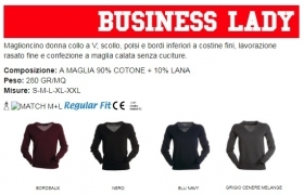 Maglioncino BUSINESS donna collo a V