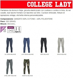 Pantalone COLLEGE LADY donna i