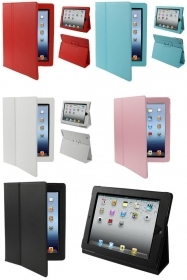 CUSTODIA COVER IN SIMILPELLE COLORATA APPLE IPAD 2 MAGNETICA E PIEGHEVOLE
