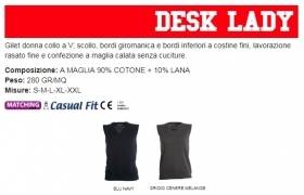 Gilet DESK donna collo a V