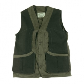 Gilet in 100% Twill di cotone con riporti in Canvas