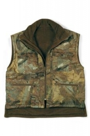 Gilet double face Bosco con carniere