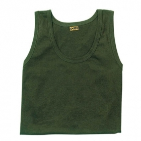 TShirt canotta in 100% cotone Verde