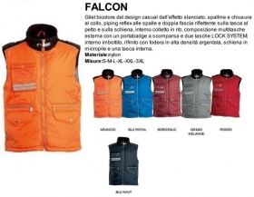 Gilet FALCON nylon imbottito con piping reflex