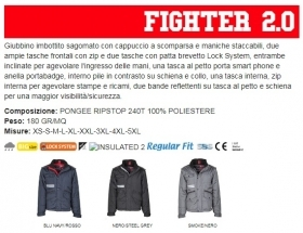 Giubbino FIGHTER 2.0 uomo, maniche staccabili