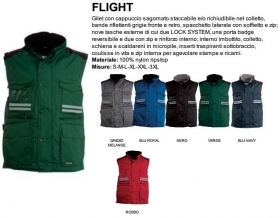 Gilet FLIGHT uomo, zip 8mm in plastica con cursore in metallo con patta e bottoni in plastica
