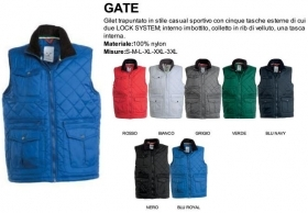 Gilet GATE trapuntato da uomo, zip 8mm in palstica con cursore in metallo