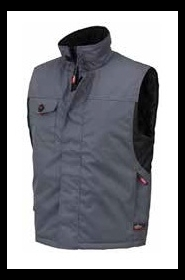 Gilet imbottito idrorepellente con colletto interno in pile