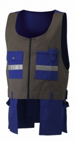 Gilet 100% cotone canvas bicolore