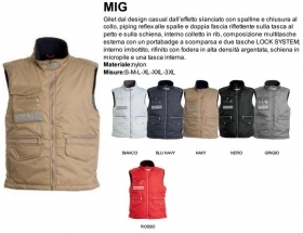 Gilet MIG unisex, zip 8mm in p