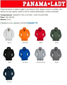 Felpa PANAMA Full-Zip misto co