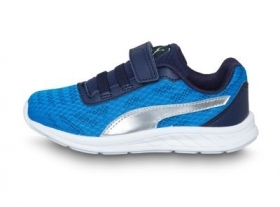 Scarpetta Puma Kids Meteor V PS Electric Blue-Puma Silver TG 29