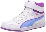 Scarpetta Puma Junior Liza Mid White-Little Boy Blue TG 37