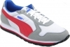 Scarpetta Puma Junior ST Runner Mesh White-Limestone Gray-Red TG 37.5