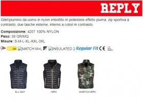 Gilet/Piumino REPLY uomo, zip in nylon a contrasto