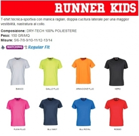 T-shirt RUNNER KIDS tecnica-sp