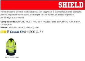 Parka SHIELD MULTIPRO bicolore in alta visibilità