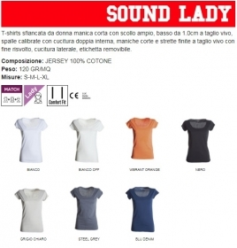 T-Shirt SOUND LADY donna M/C 1